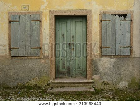 A disused building in hill village of Erto in Friuli Venezia Giulia north east Italy. The village is famous locally for having being evacuated following the 1963 Vajont Dam disaster.