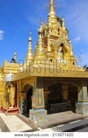 Kyauktan Ye Pagoda Yangon river tributary Myanmar (Burma)