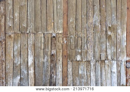 Wooden panels. Old grunge surface of the timber. Construction background. Stock photo.