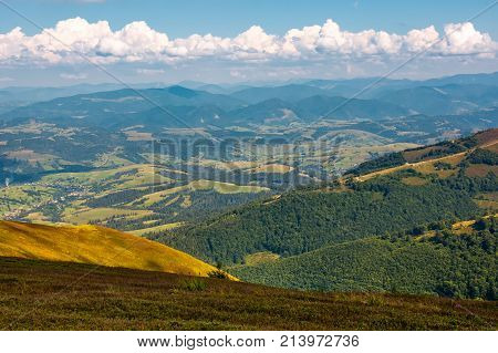Beautiful Rural Valley On Fine Summer Day