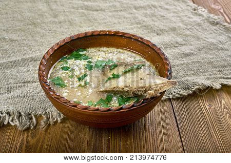 Romanian Lamb Soup