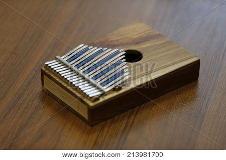 African musical instrument calimba.A rare musical instrument. African calimba. Ethnic Instrument