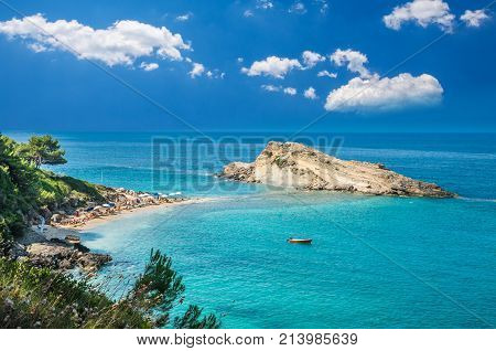 Turkopodaro Beach, Kefalonia Islands , Greece. Beautiful view of Turkopodaro Beach on Kefalonia, Ionian Islands, Greece