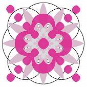 ornate circle designe poster