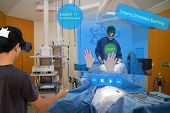Smart medical with augmented and virtual reality technology concept medical student use ar and vr for practice the surgery simulation to assist the doctor in vr in operation room to feel like a real poster