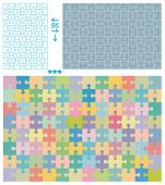 Jigsaw puzzle patterns vertical and horizontal for 96 pieces cut poster