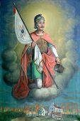 Saint Florian, painting on the church altar poster