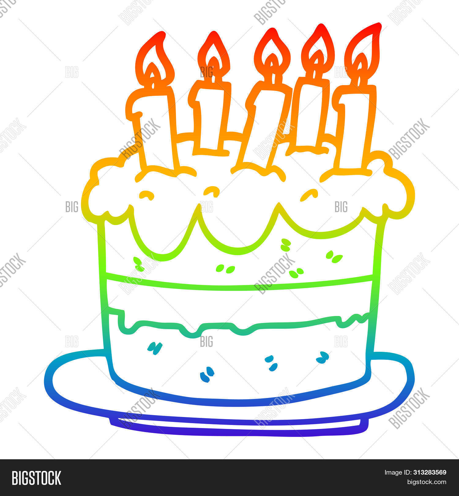 Excellent Rainbow Gradient Line Image Photo Free Trial Bigstock Personalised Birthday Cards Vishlily Jamesorg