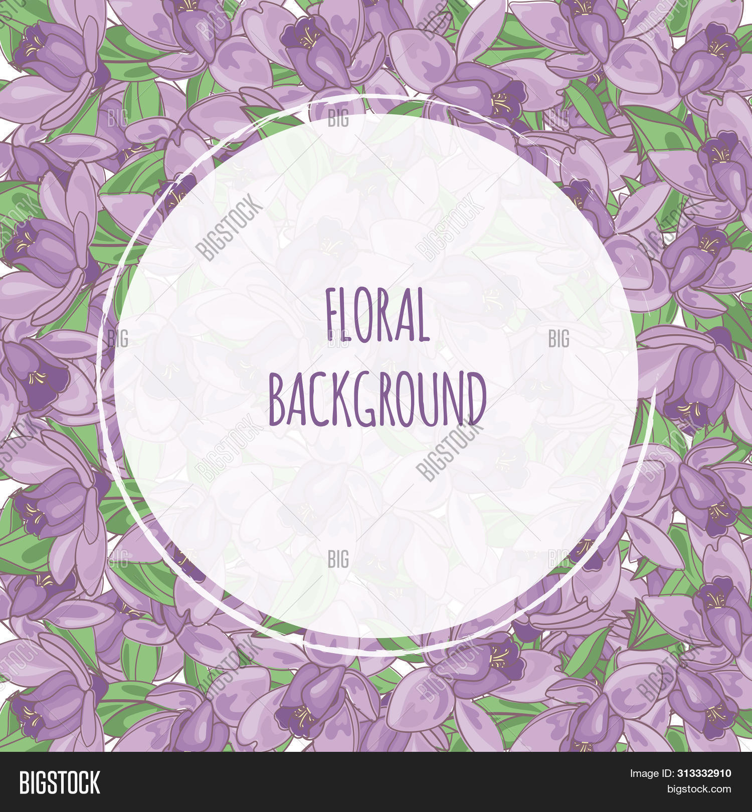 Purple Flower Floral Vector Photo Free Trial Bigstock