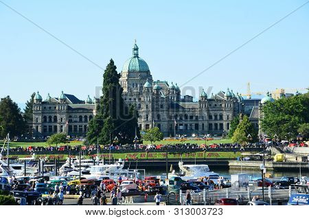 Victoria Bc,canada,july 21st 2019.deuce Coupe Classic Car Show In Victoria Bc,canada,with The Bc Leg