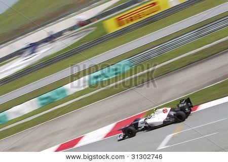 Sergio Perez exits turn 15