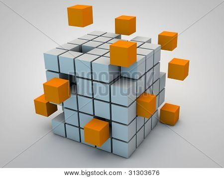 Abstraft cubes