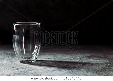 Glass On Black Background Glass On Black Background