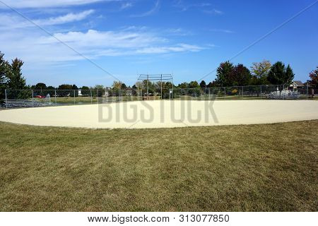 The Infield Of The Wesmere Country Club Baseball Field, In Joliet, Illinois, During September.
