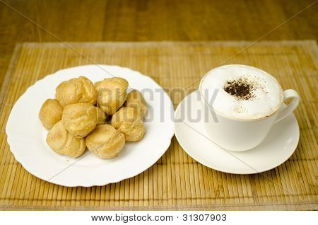 Coffee With Cream Puffs
