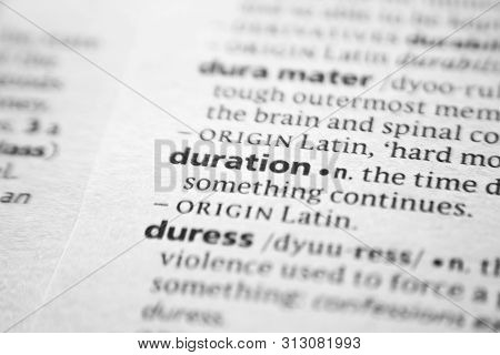 Word Or Phrase Duration In A Dictionary