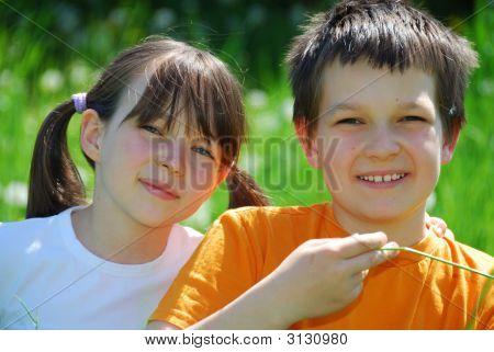 Schwester und Bruder-Portrait