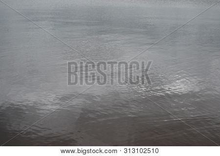 Water Background. Water In Gray. River Water Texture.