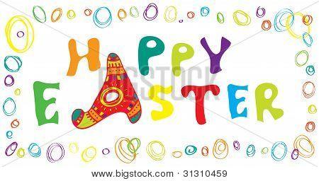 Happy Easter horizontal banner