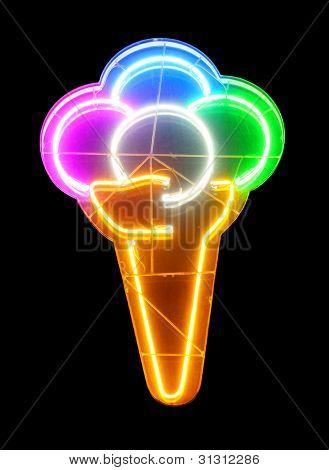 neon icecream