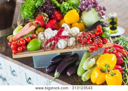 A lot of vegetables on the table poster