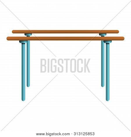 Parallel Bars Icon. Cartoon Of Parallel Bars Icon For Web Design Isolated On White Background