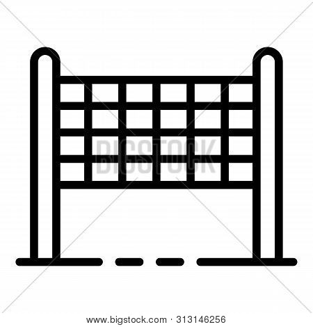 Volleyball Net Icon. Outline Volleyball Net Icon For Web Design Isolated On White Background