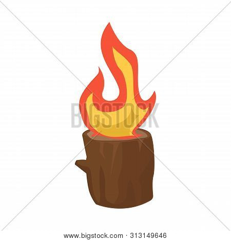 Vector Illustration Of Blaze And Fiery Symbol. Collection Of Blaze And Blazing Stock Symbol For Web.