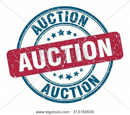 Auction Stamp. Auction Round Grunge Sign. Auction