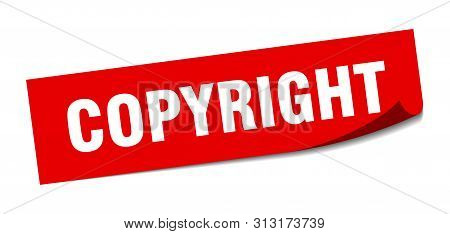 Copyright Sticker. Copyright Square Isolated Sign. Copyright
