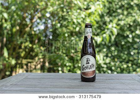 Sint Gillis Waas, 24 July 2019. Belgian Beer. Goliath Beer. Amber Beer With A Rich Taste Of Hops And