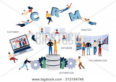 Business Concept Of Cmr, Customer, Analysis, Collaboration, Automation, Relationship. Team Lerks Imp