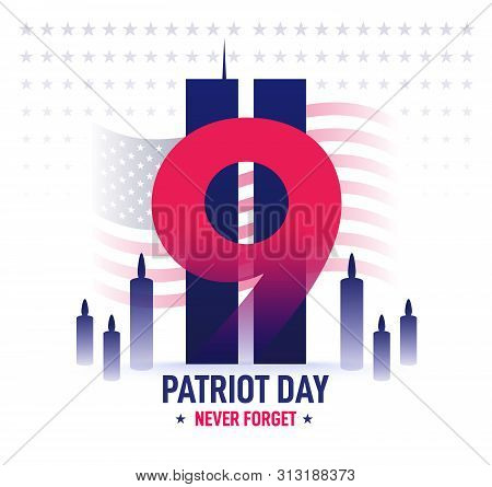 Patriot Day Banner. Memorial Day. Vector Illustration