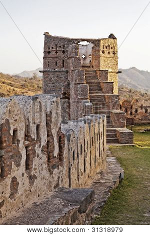 Evening Glow Kumbhalgarth  Fort Tower Rajasthan India