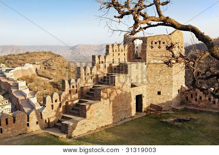 Ruins Of Fort In Rajasthan India