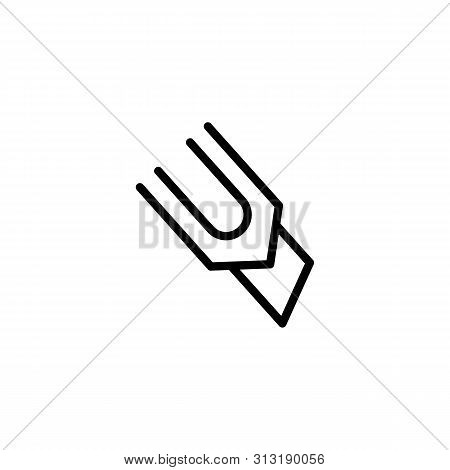 Paper Knife Line Icon. Marker, Cutter, Razor. School Concept. Vector Illustration Can Be Used For To
