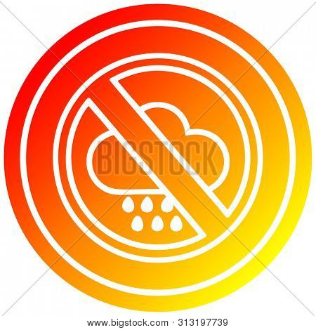 no bad weather circular icon with warm gradient finish