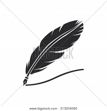 Quill Icon Isolated On White Background. Quill Icon In Trendy Design Style For Web Site And Mobile A