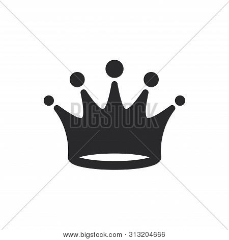 Crown Icon Isolated On White Background. Crown Icon In Trendy Design Style For Web Site And Mobile A
