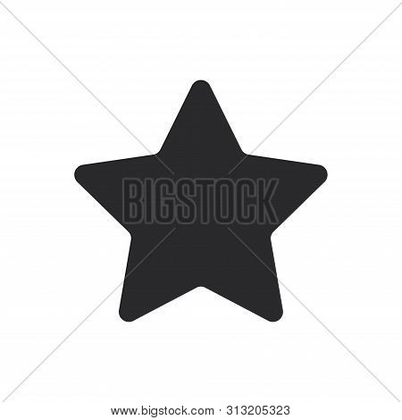 Bookmark Star Icon Isolated On White Background. Bookmark Star Icon In Trendy Design Style For Web S