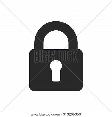 Locked Padlock Icon Isolated On White Background. Locked Padlock Icon In Trendy Design Style For Web