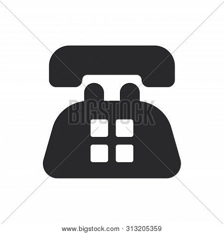 Old Telephone Icon Isolated On White Background. Old Telephone Icon In Trendy Design Style For Web S