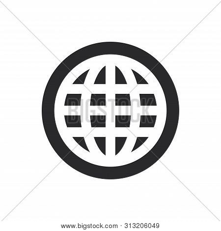 World Wide Web Icon Isolated On White Background. World Wide Web Icon In Trendy Design Style For Web