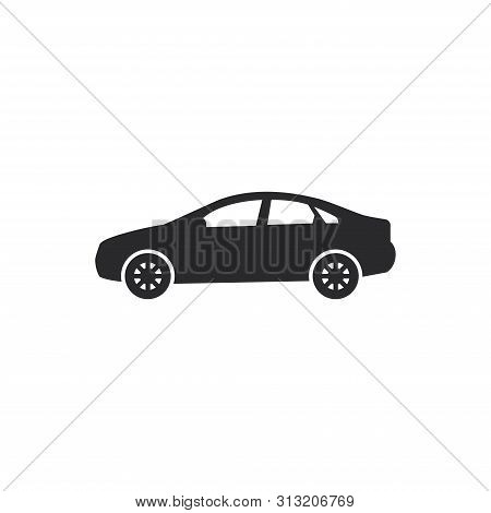 Sedan Car Icon Isolated On White Background. Sedan Car Icon In Trendy Design Style For Web Site And