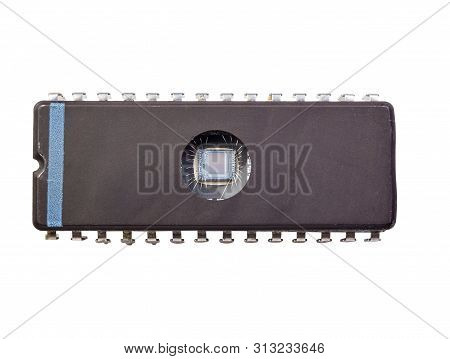 Rewritable Memory Chip Isolated On White Background