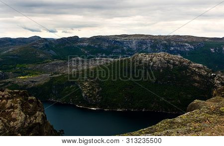 Impressive View Of The Lysefjord In Norway