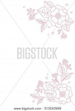 Spring Floral Background. Vector Floral Design Card. Abstract Flower Pattern. Modern Style. Element