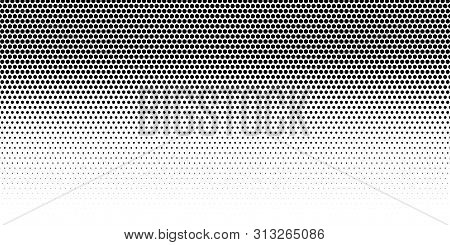 Halftone Dotted Background. Black Dots In Modern Style On A White Background. Vintage Illustration F