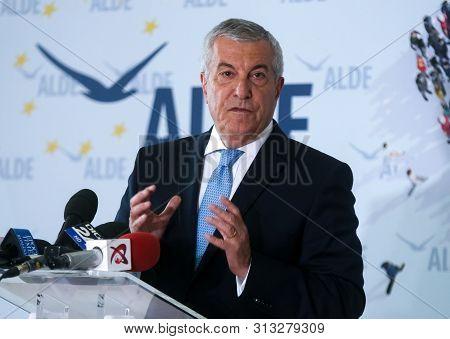 Bucharest, Romania - July 24, 2019: Calin Popescu Tariceanu, Leader Of Liberal Democrat Alliance (al