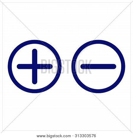 Plus And Minus Icon Isolated On White Background. Plus And Minus Icon In Trendy Design Style. Plus A